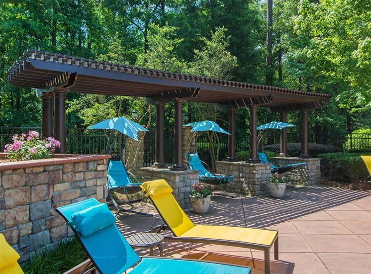 Sundeck with Pergola and Lounge Chairs