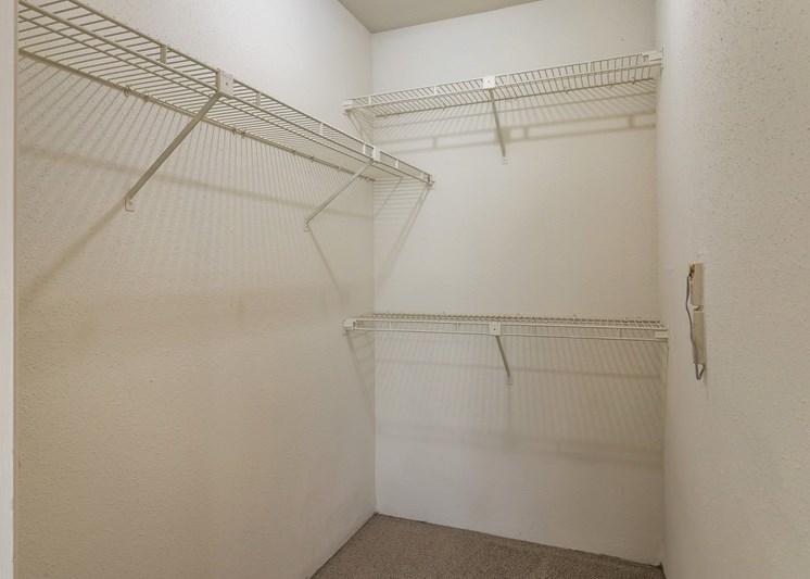 Walk-in closet with built in storage