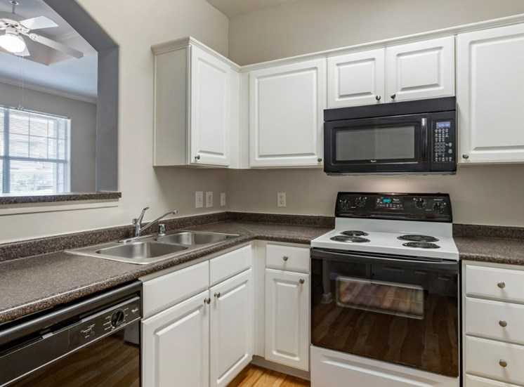 Fully equipped kitchen with double basin sink