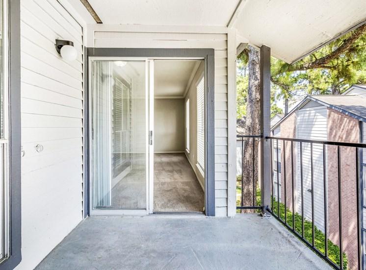 Patio area with sliding door