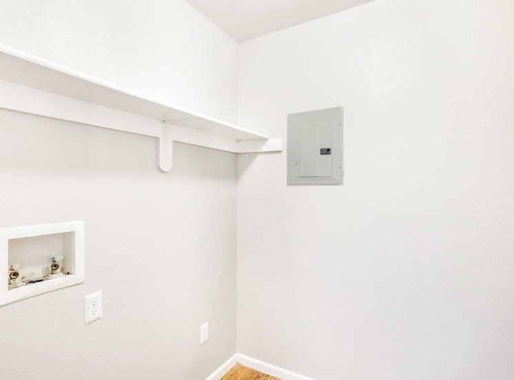 Laundry room with washer and dryer connections