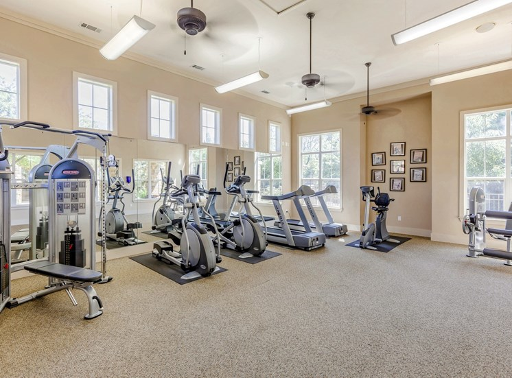 Fitness Center with ceilings fan