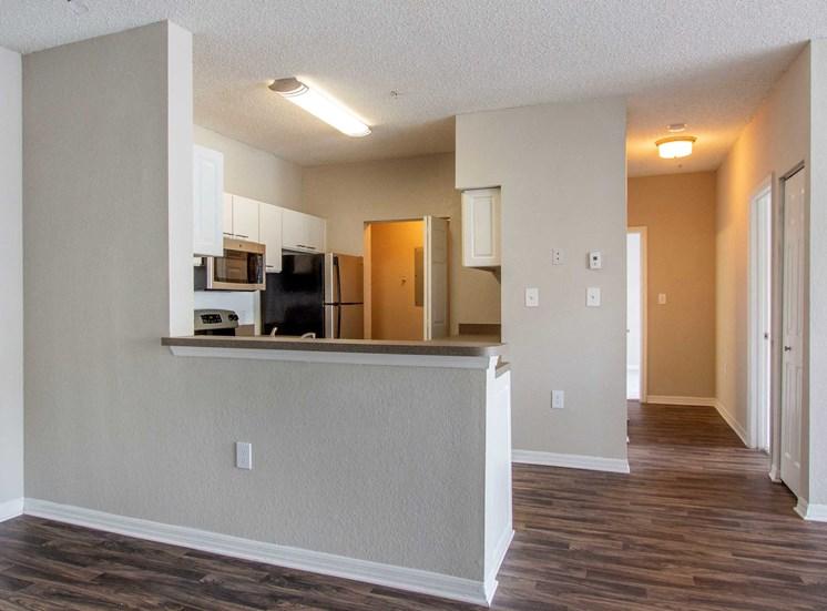 Open Floor Plan with Breakfast Bar off Kitchen