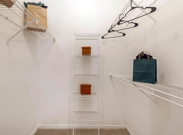 Walk in Closet  with WIre Shelves