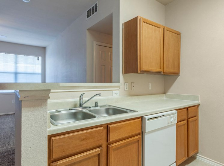 Kitchen with Double Basin Sink