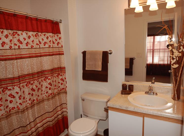 Bathroom With Bathtub at Parkview Apartments, North Carolina, 28078