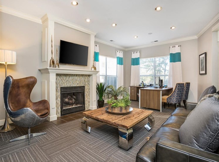 Clubhouse Lounge with Fireplace