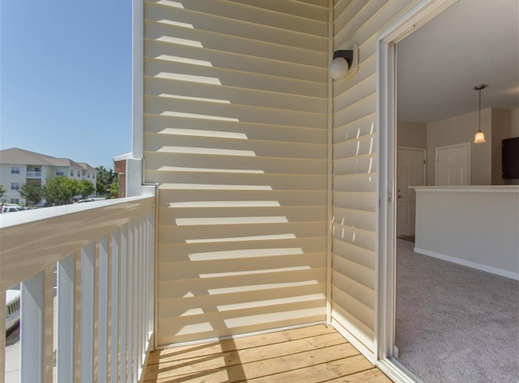 Patio with White Railing