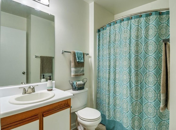 Bathroom With Mirror Above Sink