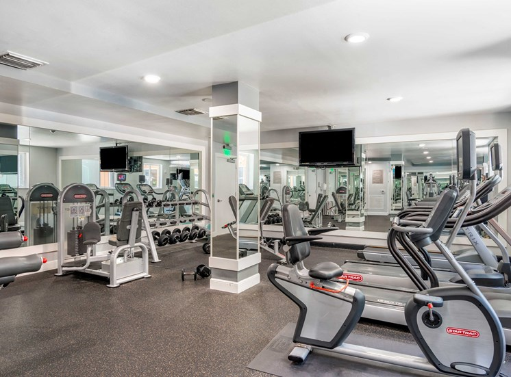 Fitness Center with bikes and treadmills