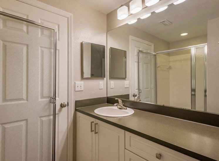 Bathroom Vanity  with Grey Counters