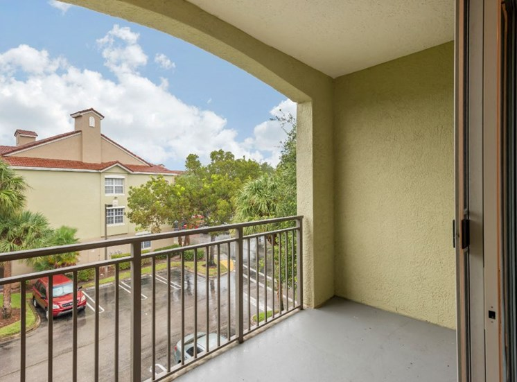 Spacious Balcony View with Trees