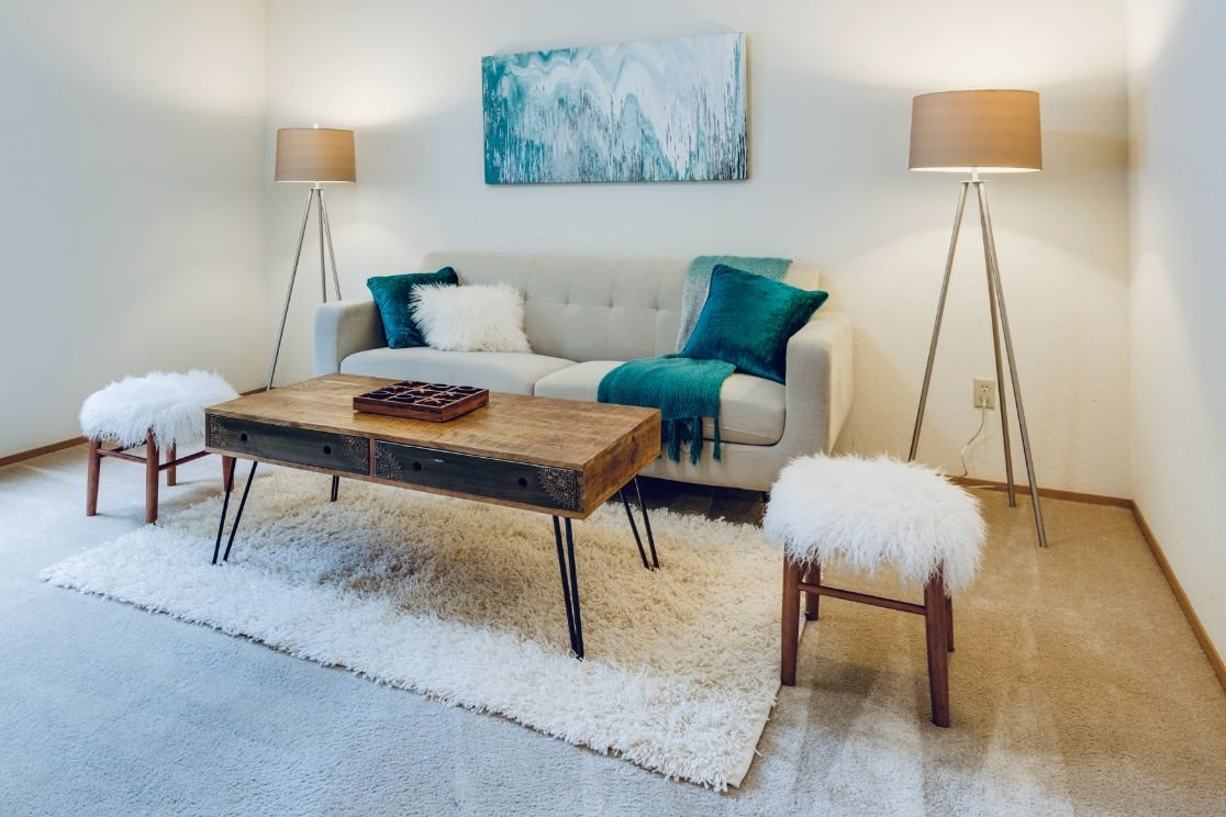 Stock Photo of couch and dining room table