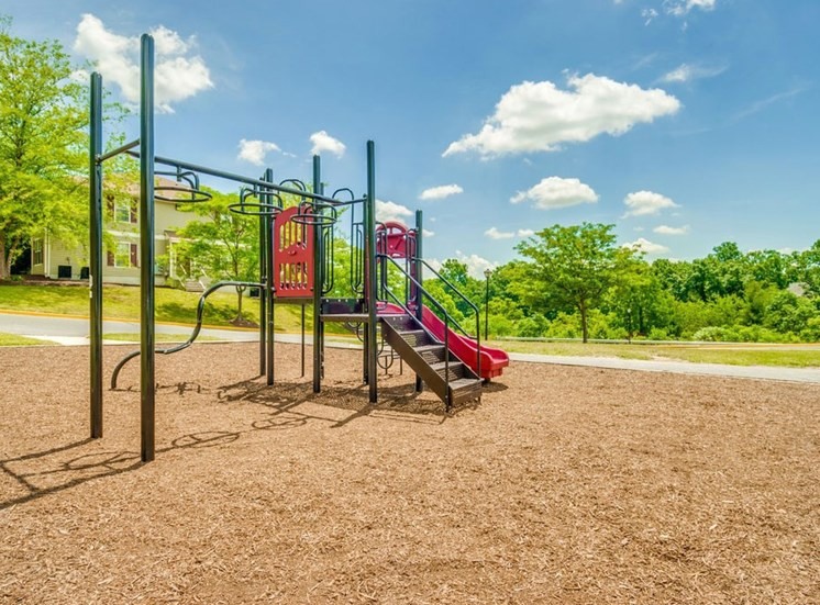 Playground on wood chips