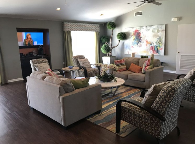 Clubhouse With Television at Falcon Pointe Apartments, Texas