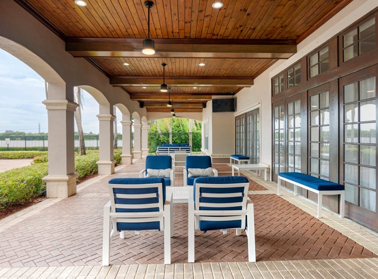 Covered Patio with Patio Furniture