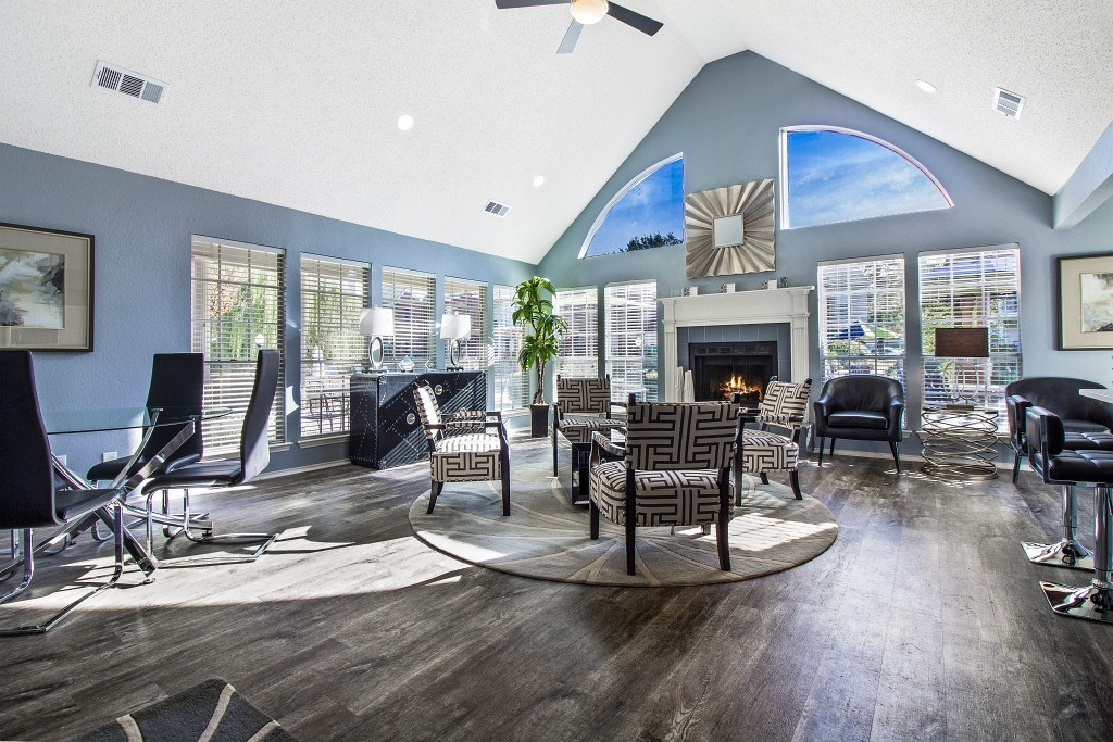 Clubhouse Lounge with Fireplace.