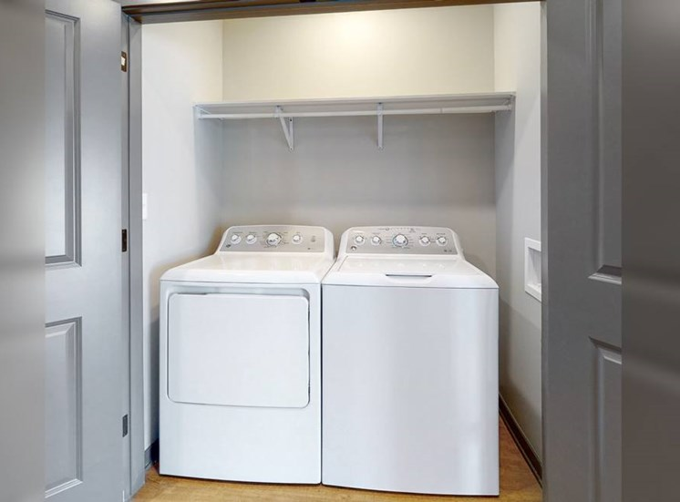 In unit washer and dryer at Haven at Uptown in Lincoln, NE