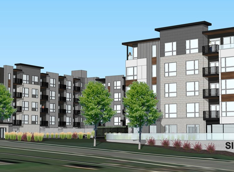 Exterior rendering of Haven at Uptown apartment community in Lincoln, NE