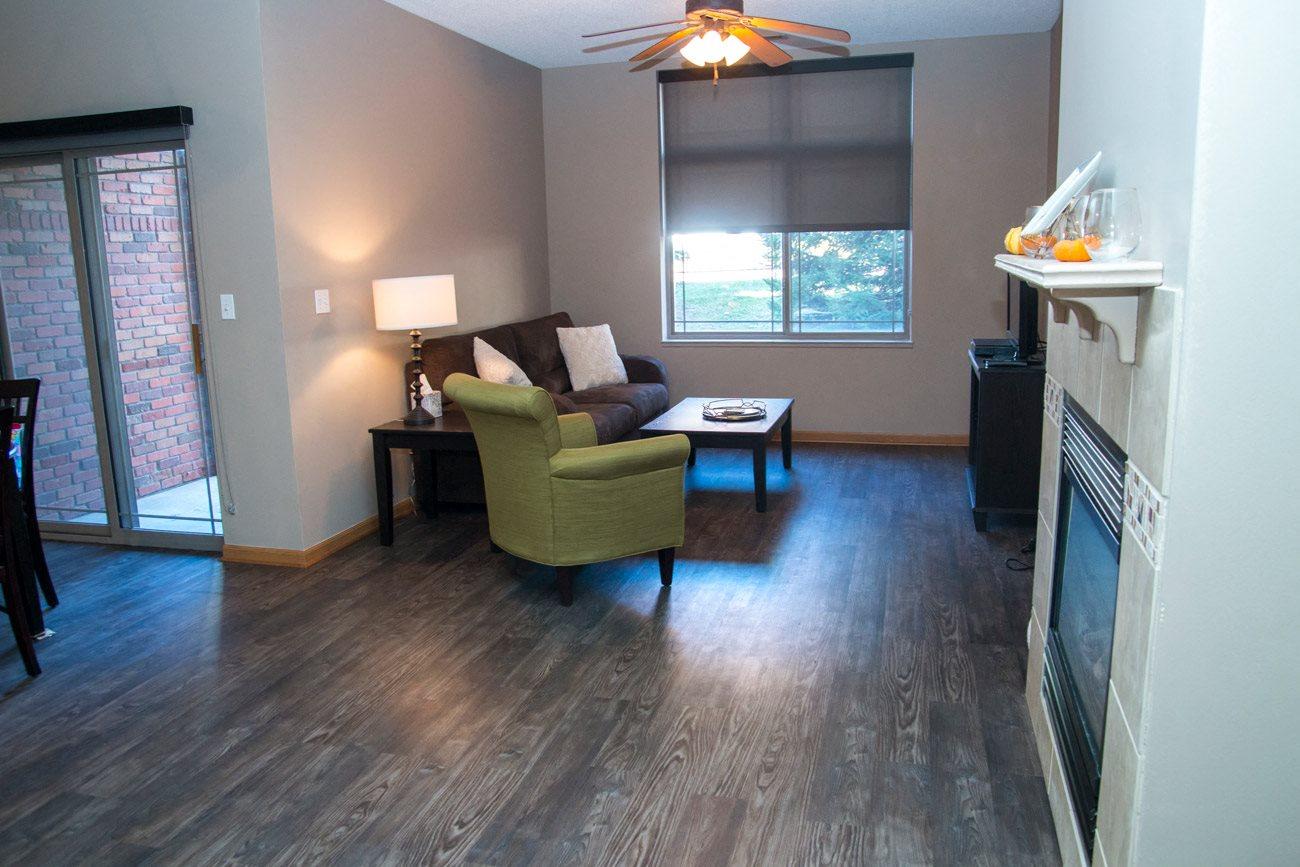 Interiors-Southwind Villas with woodstyle floors in La Vista NE