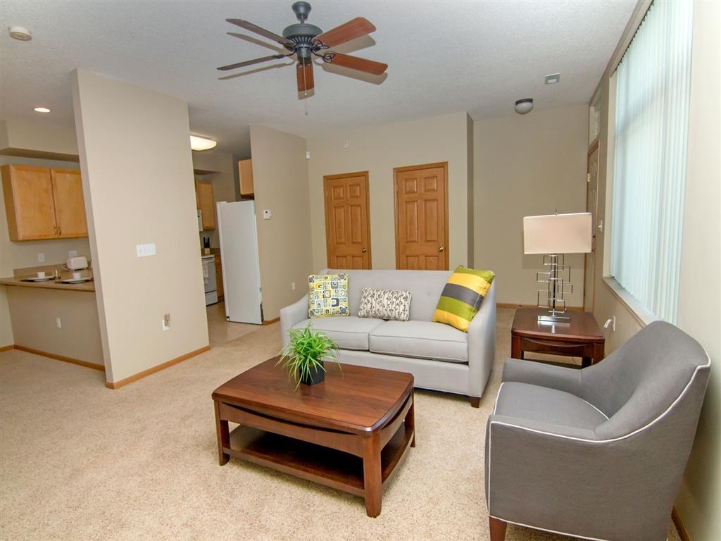 living area at Southwind Villas in La Vista Nebraska