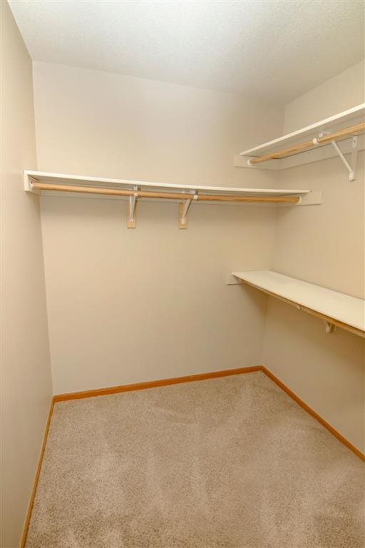 closet space at Southwind Villas in La Vista Nebraska