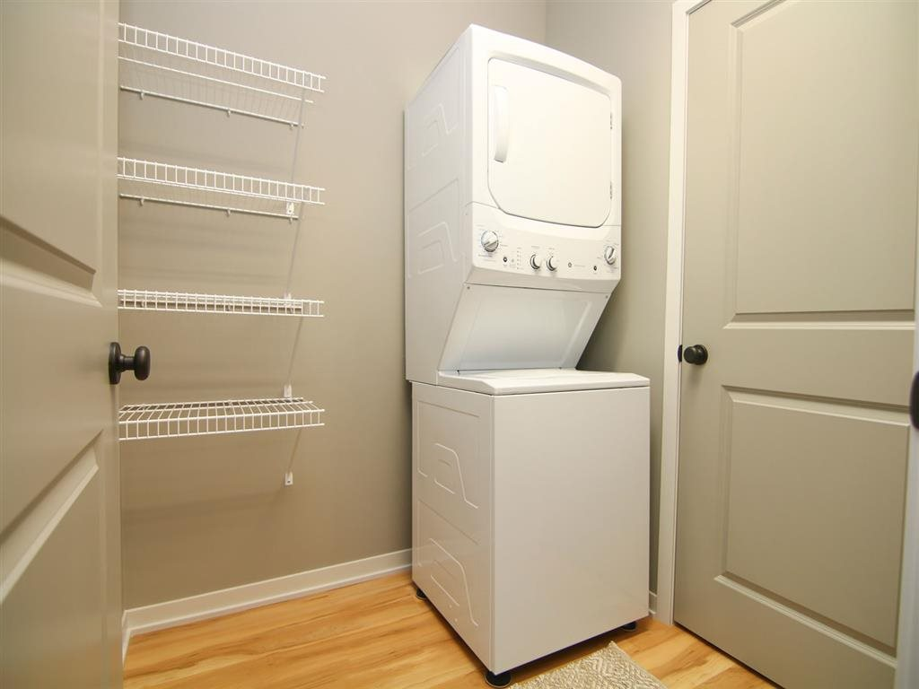 All homes include a washer and dryer at Villas at Wilderness Ridge in Lincoln Nebraska