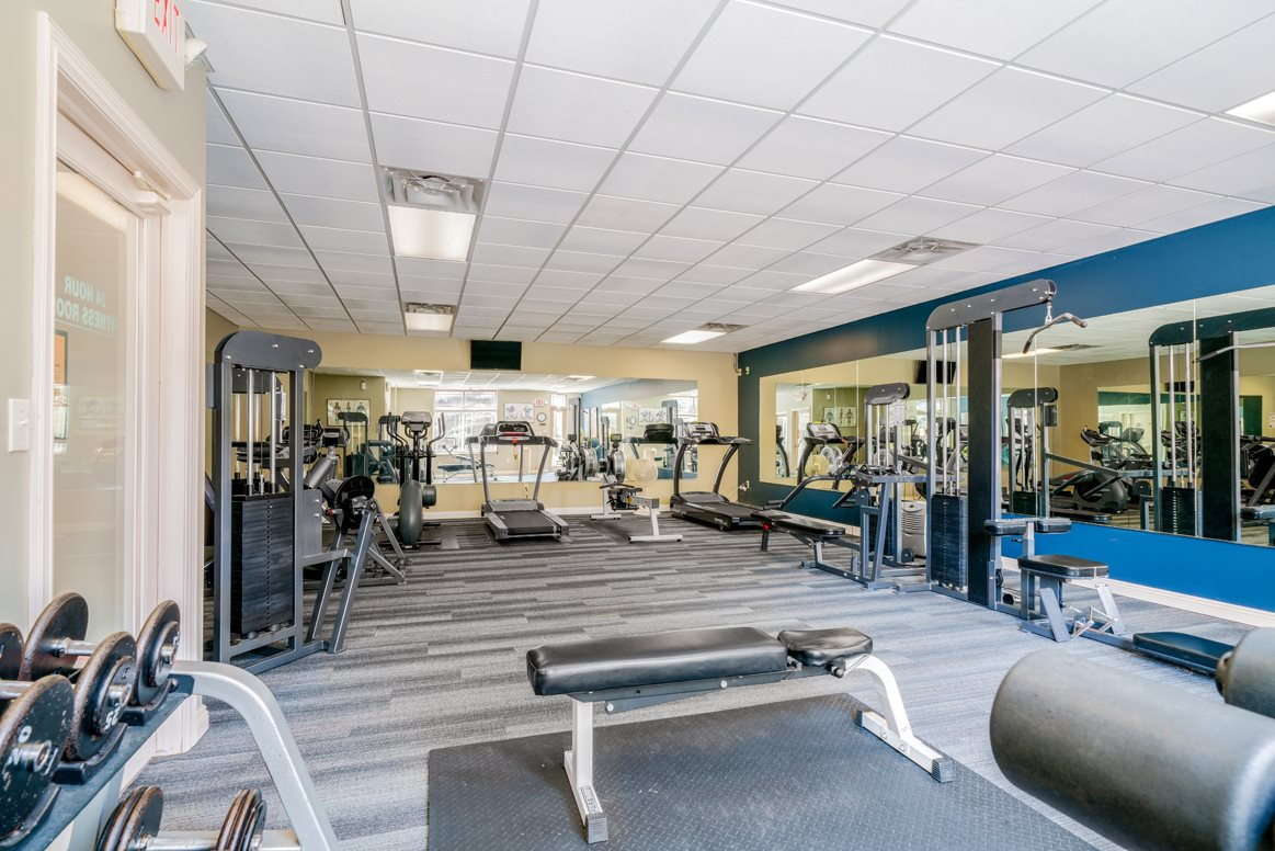 Plenty of space and equipment to hit your fitness goals at Southwind Villas