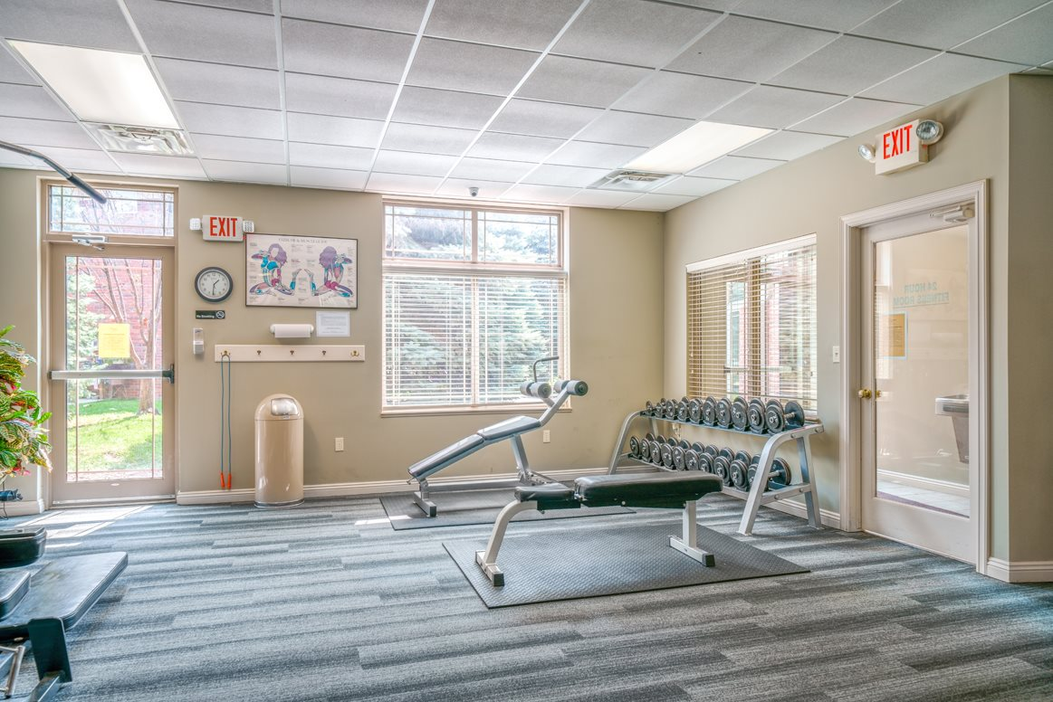 Hang your gear and get to work in the spacious exercise room at Southwind Villas