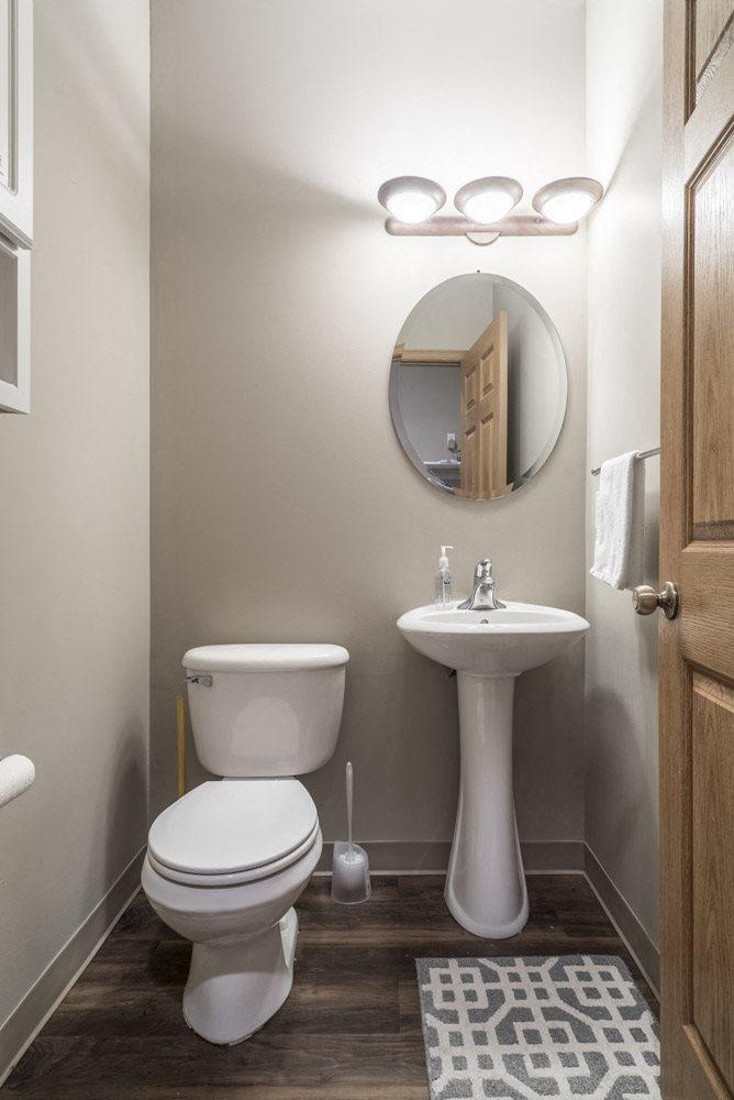 Hallway bathroom at Southwind Villas in southwest Omaha in La Vista, NE, 68128