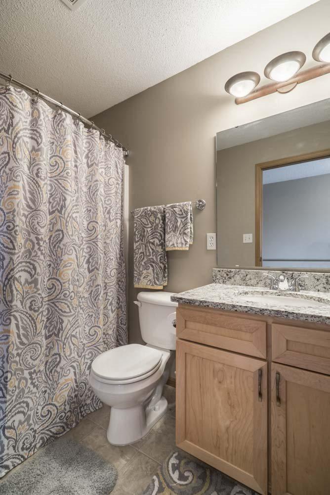 Bathroom with modern cabinets at Southwind Villas in southwest Omaha in La Vista, NE, 68128