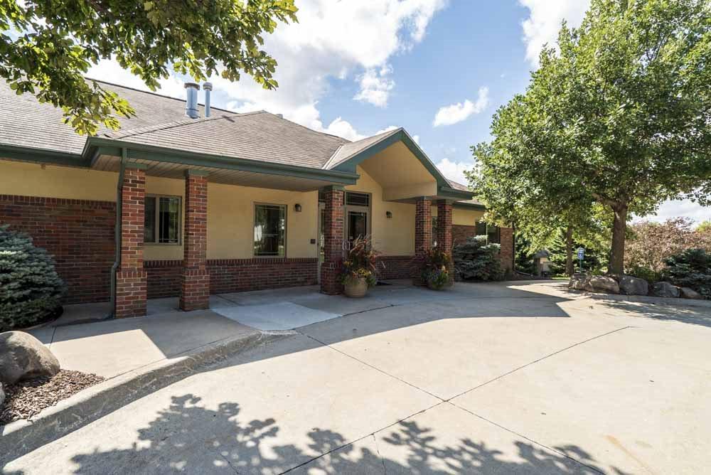 View of leasing office at Southwind Villas in southwest Omaha in La Vista, NE, 68128