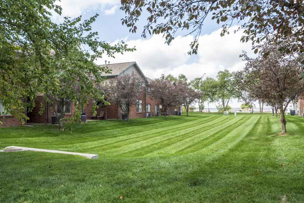 Greenspace around Southwind Villas in southwest Omaha in La Vista, NE, 68128