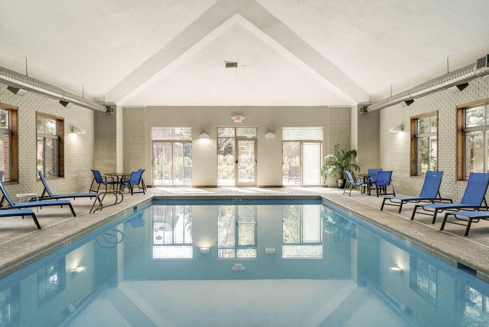 Indoor swimming pool at Southwind Villas in southwest Omaha in La Vista, NE, 68128