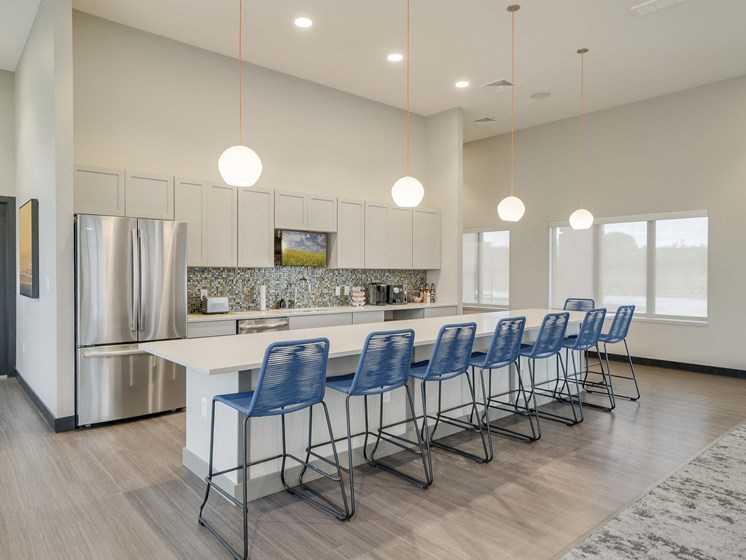 modern clubhouse at The Flats at Shadow Creek new luxury apartments in east Lincoln NE 68520