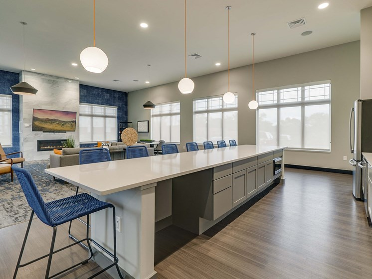 Beautiful clubhouse space at The Flats at Shadow Creek new luxury apartments in east Lincoln NE 68520