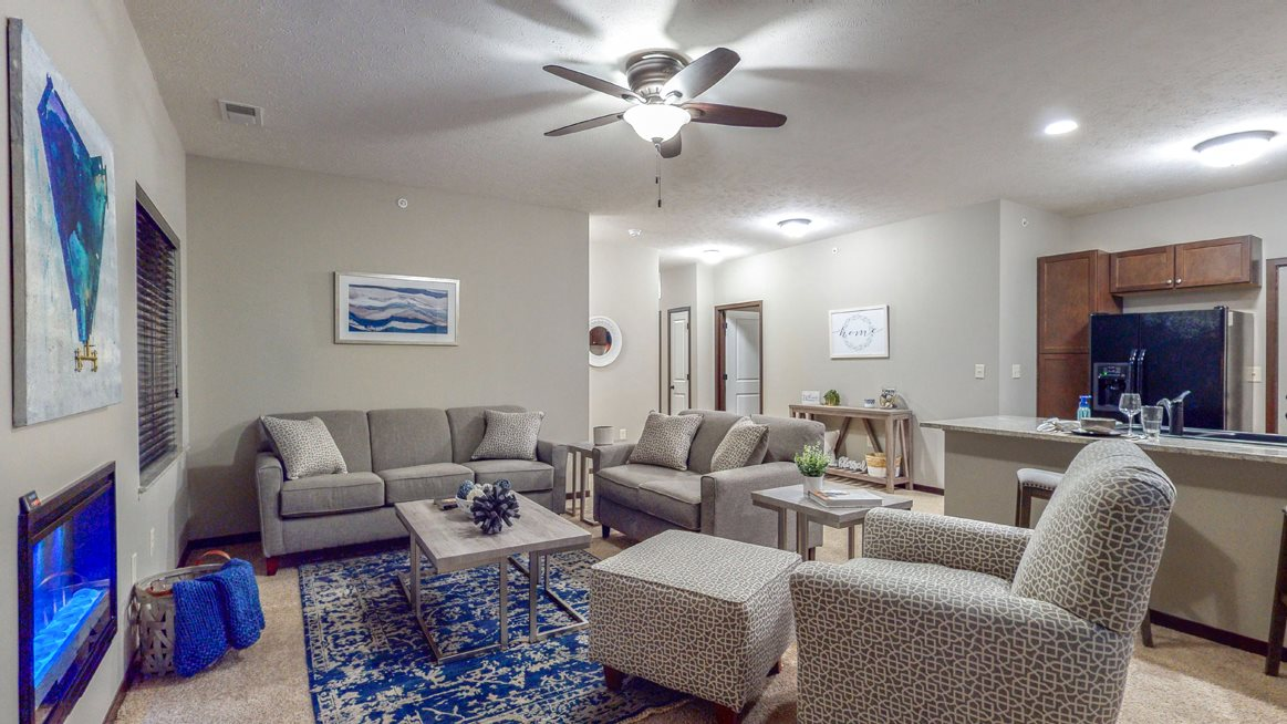 There's plenty of living space in this two-bedroom Cedar floor plan at The Villas at Wilderness Ridge