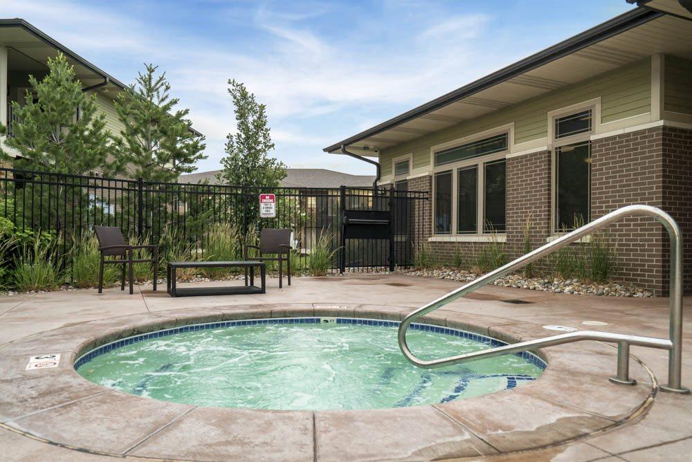 Hot tub at the Villas at Wilderness Ridge