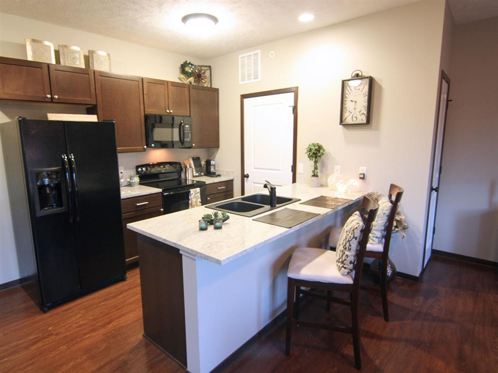 kitchen at Villas at Wilderness Ridge in Lincoln Nebraska
