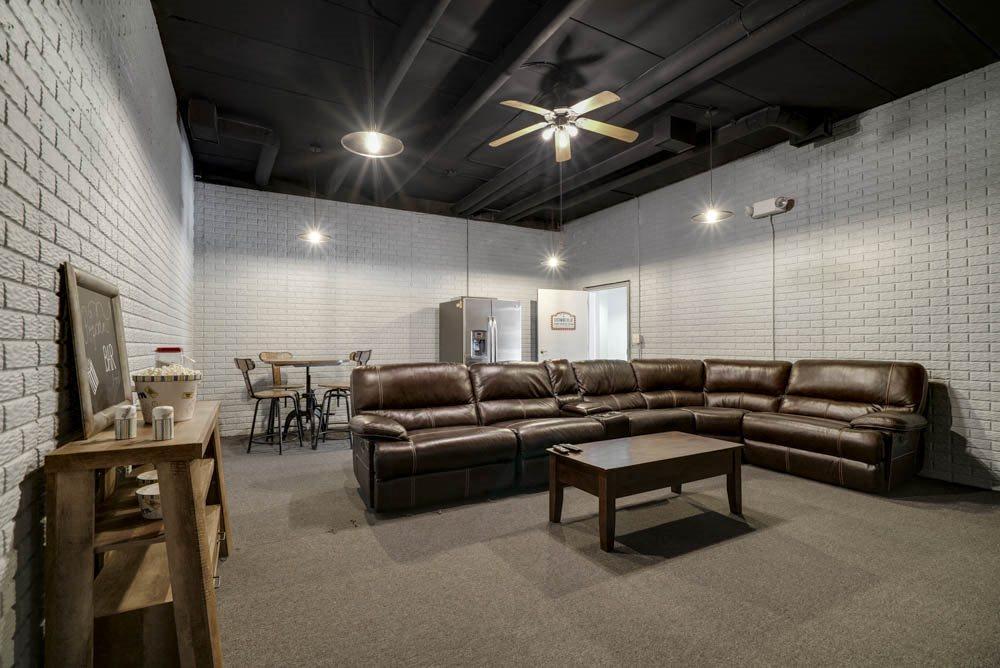 Theater room at Southwind Villas in southwest Omaha in La Vista, NE, 68128