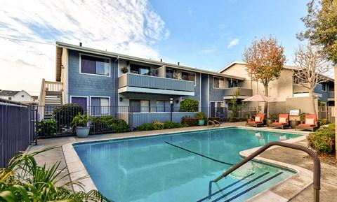 Baywind Apartments in Costa Mesa, CA swimming pool