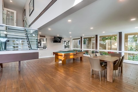 Clubhouse at Whiffle Tree Apartments in Huntington Beach California.