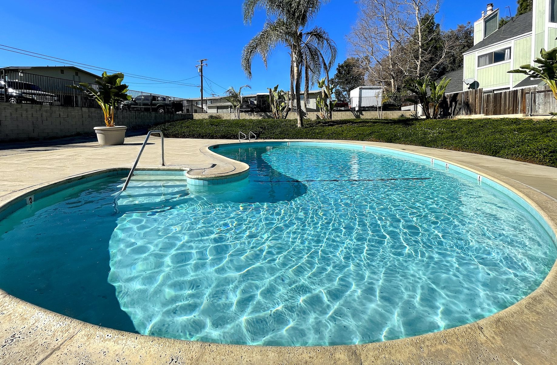 The Wilson Apartments in Costa Mesa, California featuring 2 bedroom apartments and swimming pool.