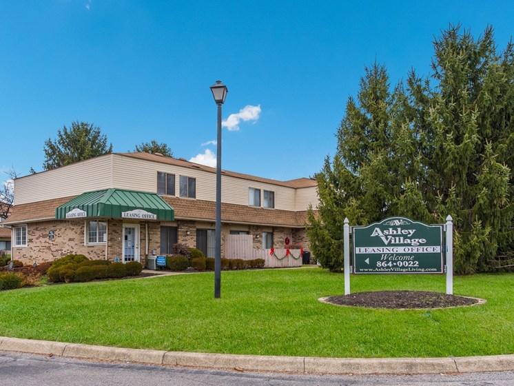 Property Signage at Ashley Village Apartments, Columbus, 43232