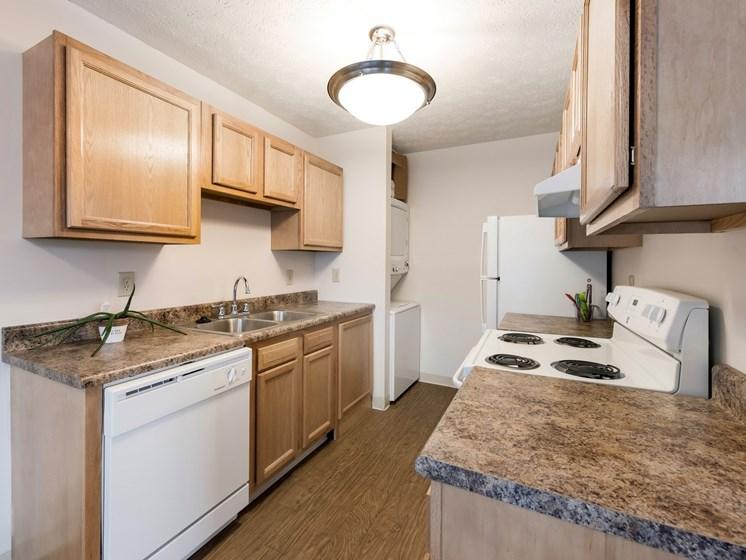 Granite Countertop Kitchen at Ashley Village Apartments, Ohio