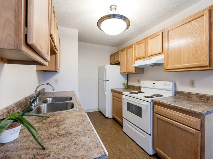 Fully Equipped Kitchen at Ashley Village Apartments, Columbus
