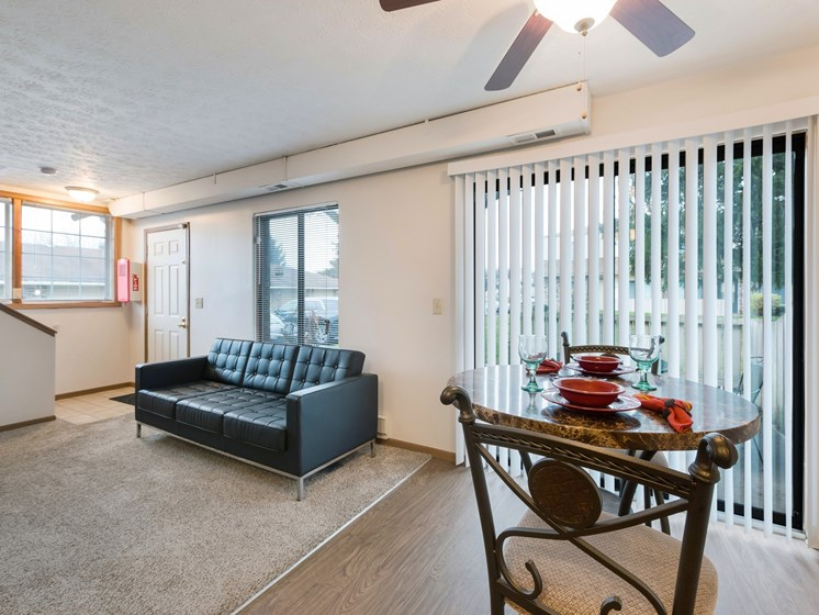 Living Room With Expansive Window at Ashley Village Apartments, Columbus, Ohio