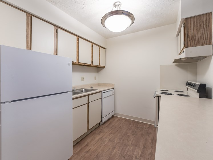Refrigerator And Kitchen Appliances at Chatham Village Apartments, Ohio, 48232