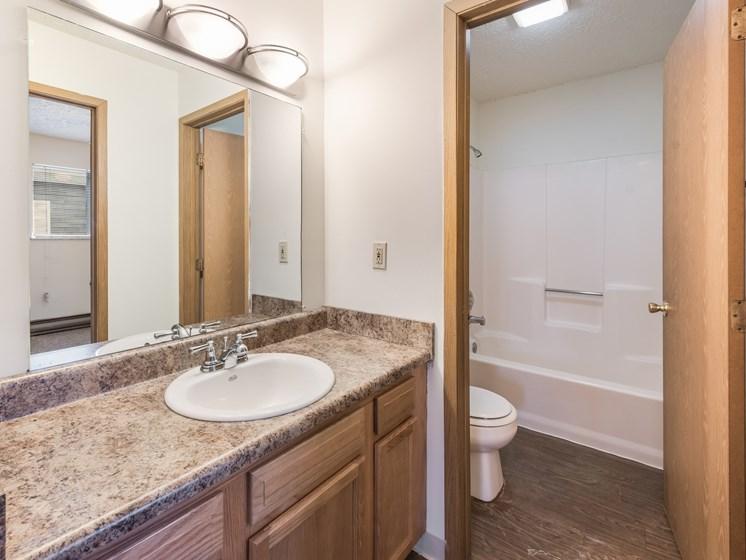 Luxurious Bathrooms at Chatham Village Apartments, Columbus, Ohio