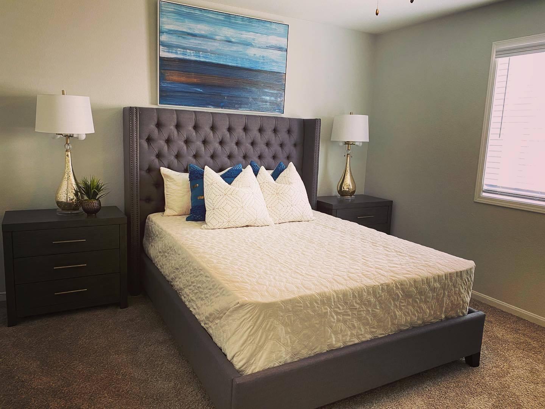 Remodeled Model bedroom at Parkwood Terrace, Round Rock, TX, 78664